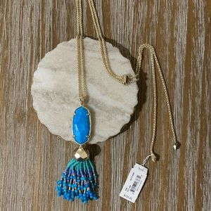 Kendra Scott Jewelry - Kendra Scott Eva Necklace Aqua Howlite/Gold